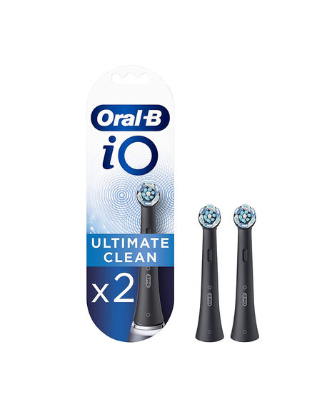 iO Ultimate Clean Replacement Brush Heads 2 Pack - Black