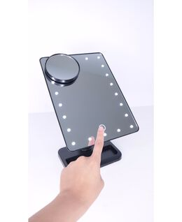 LED Light Up Mirror - Black