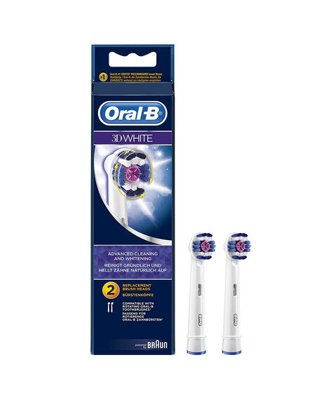 3D Whitening Electric Toothbrush Replacement Brush Head Refills 2 Pack