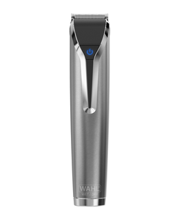 Waterproof Lithium-Ion Stainless Steel Grooming Kit - Silver