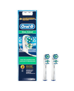 Oral-B Dual Action Toothbrush Brush Head Refills 2 Pack