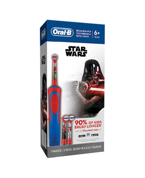 Kids Stages Star Wars Electric Toothbrush & 3 Replacement Brush Heads Refills