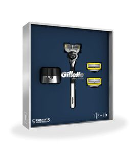 Fusion5 Proshield Gift Pack with a Razor, Blade Refill 3 Pack and Stand