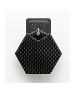 Body Scrubber & Hook   Charcoal