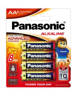 AA Alkaline Battery 8pk