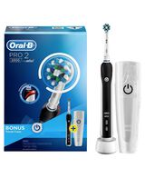 Pro 2000 Electric Toothbrush with Travel Case, Black